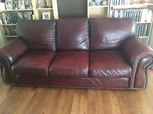 Leather 3 seater sofa Tapping Wanneroo Area Preview