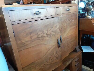 Vintage Sideboard Walnut Veneer. Shabby chic project