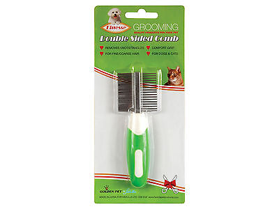 Dog & Cat Grooming Comb Double Sided for Fine to Coarse Hair