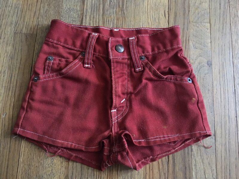 Vtg 60s 70s LEVIS High Waist Cut Off Denim Jean Short Shorts YOUTH 18 Inch Waist