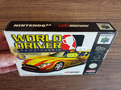 WORLD DRIVER CHAMPIONSHIP N64 BOXED MINT NINTENDO 64 PAL