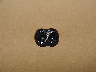 Animal Noses (25MM 12 PCS. EXTRA WIDE BLACK NOSE ANIMAL BEAR DOG DIY STUFFED CRAFT COSTUME)