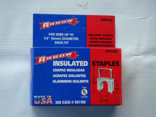New Arrow Fastener 591168 11/16-Inch T59 Insulated Staples, 300 count box, Clear