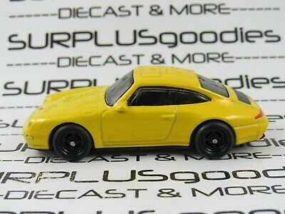 Hot Wheels 1:64 LOOSE Yello 1996 '96 PORSCHE CARRERA Custom SUPER w/Real Riders