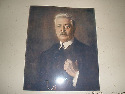 Signed Photo Victor Emmanuel Orlando-1925-To US Ambass,Wife--Mrs Rosso-Wow-frame