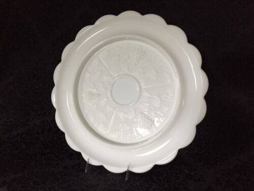 Westmoreland Paneled Grape White Milk Glass Canape Tray