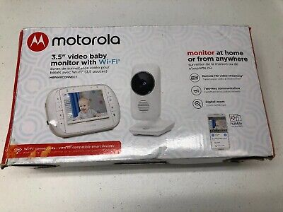 "MOTOROLA 3.5"" VIDEO BABY MONITOR WITH WIFI AND COLOR LCD"