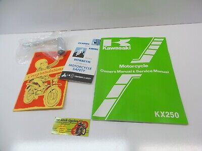 Service Manual-kit (NOS KAWASAKI 1982 KX250 KX B1 SERVICE MANUAL KIT OEM 99920-1167-01 OEM )
