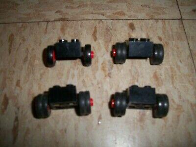 Lot of 3 rare 1970s Lego Legoland Dual Truck tires Duallies