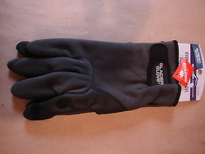 Hybrid Fleece Glove - Glacier Glove Fleece Hybrid Fishing Glove 710GY Neoprene Palm Slit Finger XL