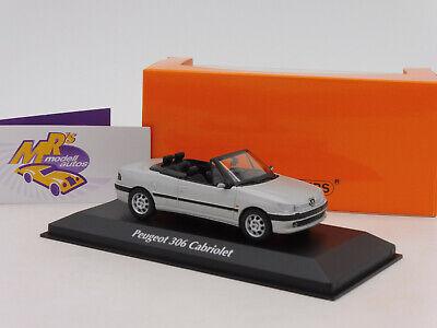 """Maxichamps 940112832 # Peugeot 306 Cabriolet Baujahr 1998 in """" silbermatt """" 1:43 segunda mano  Embacar hacia Spain"""