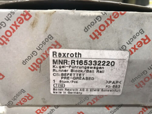 Rexroth Linear Bearing R165332220