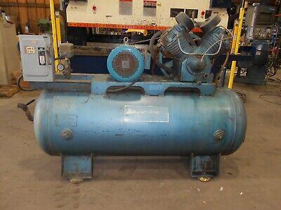 Kellogg-american 10 Hp 2 Stage Air Compressor W120 Gallon Compressed Air Tank