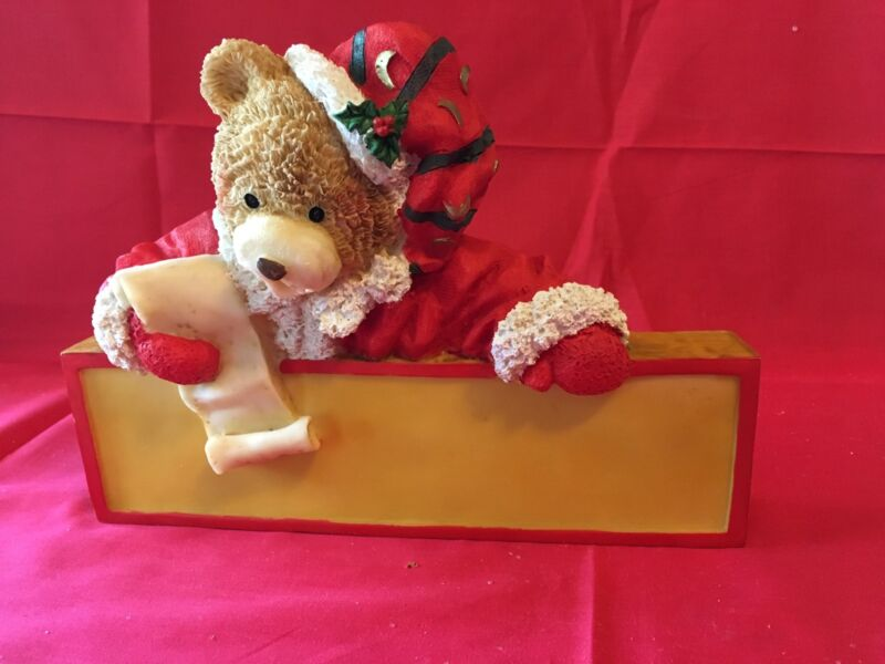 Christmas Bear Plaque  Resin / Plastic