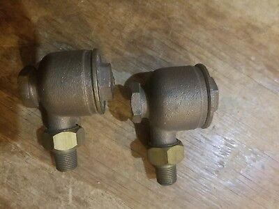 Pair Of Nos Aquatrol 2 Brass Check Valves 12 Npt Bronze Steam Heat Hot Water