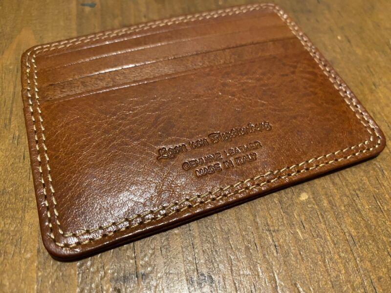 BRAND NEW Egon Von Furstenberg Genuine Leather Card Holder Wallet Made In Italy