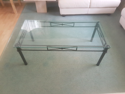 Glass top coffee table Brighton Brisbane North East Preview