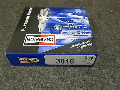 CHAMPION PLATINUM POWER SPARK PLUGS # 3018 PACK OF 4