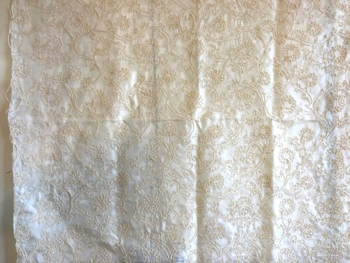 Beautiful Unusual 19th C. French Silk Passementerie Embroidered Fabric  (2860)