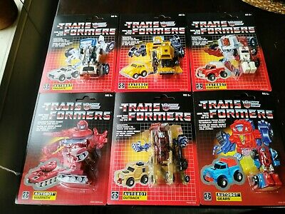 Transformers Reissue 6 Mini Bots Lot: Bumblebee, Swerve, Tailgate, Warpath, Gear