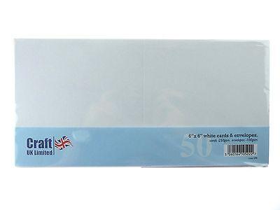 Craft UK 6X6 WHITE Card and Envelopes  CUK599 N