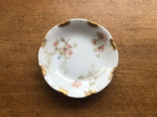 Antique Porcelain Limoges Butter Pat Haviland & Co Pink Floral