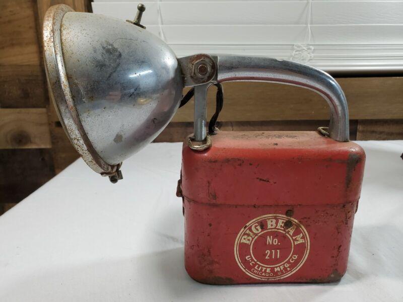 Vintage Big Beam No. 211 U-C Lite Mfg. Co Railroad Lantern/Flashlight