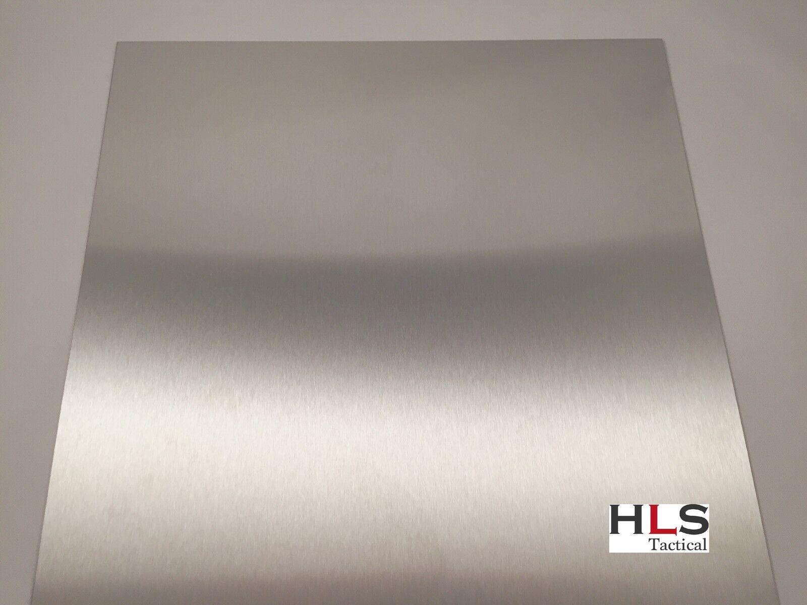 1-3mm Edelstahlblech 1.4301 geschliffen K240 Edelstahlplatte Größe wählbar