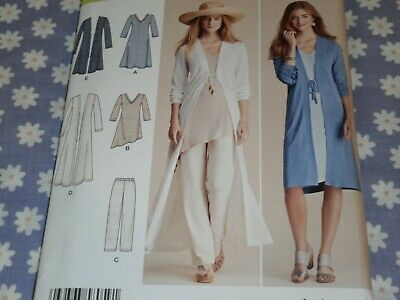 SIMPLICITY 8059 MISSES DUSTER PANTS KNIT DRESS OR TUNIC  PATTERN-NEW-UNCUT-4-26