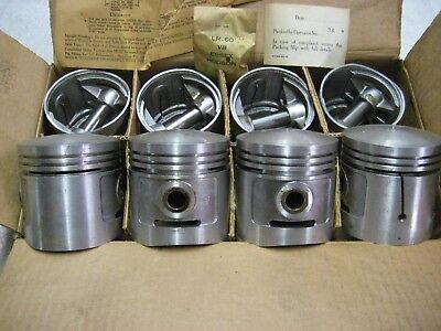 New Sterling Dome Pistons 3 1 16  030 1937 1942 Ford 85Hp V 8 Car Truck 3 Ring