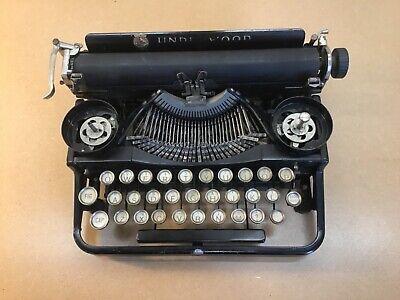 Antique 1921 Underwood Portable 3-Bank Model Vintage Typewriter - #27572