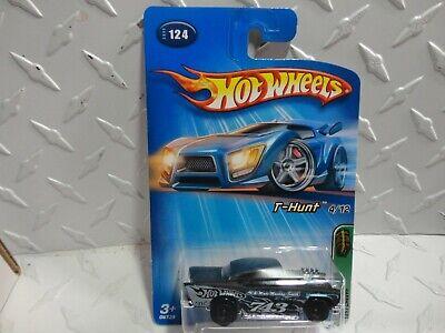 2005 Hot Wheels Treasure Hunt #124 Black '57 Chevy w/Black Hub Real Riders
