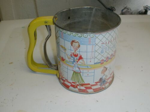 Vintage Androck 3 Screen Flour Sifter - Hand-i-sift - Family - Mother - Children