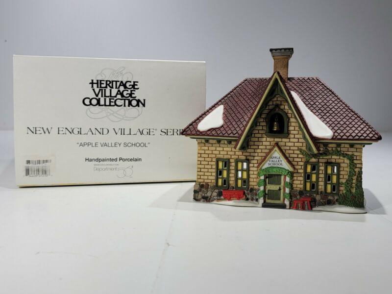 "Dept 56 New England Village Series "" Apple Valley School "" # 56172 In Box"