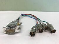 VGA BNC Cable 10/' HD 15-pin to Analog 5 BNC Component RGB Video #92793~4