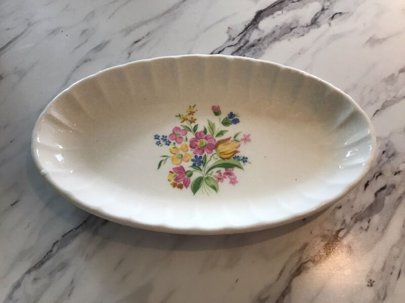 "W.s. George Bolero Oval Server About 9"" Across Vintage"