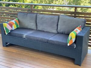 Outdoor couch with cushions