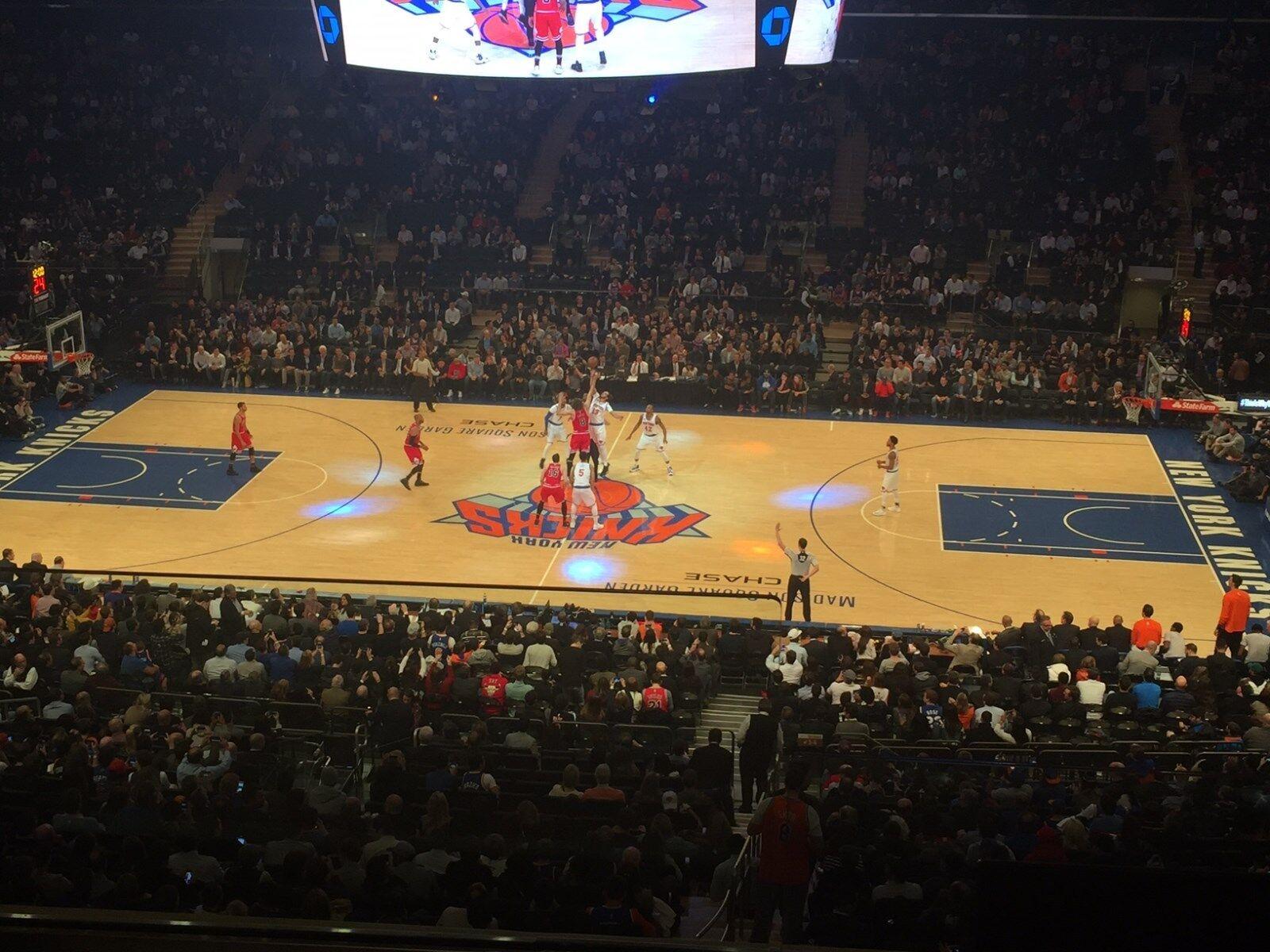 Купить 2/5/19 - 2 tickets - KNICKS/Pistons, Sec 212, row 3 on aisle, center court