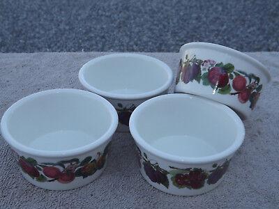 Portmeirion Pomona Ramekins - Portmeirion Pomona 4 Ramekins Custard Cups