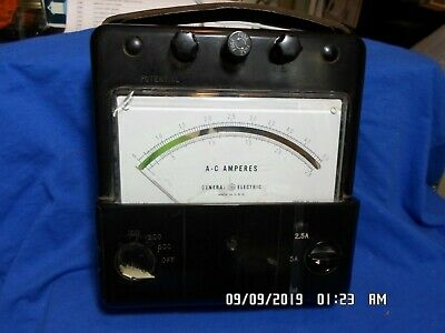 Vintage General Electric Ac Amp Meter Type Ap-11