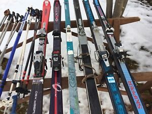 6 Sets of Skis For Sale