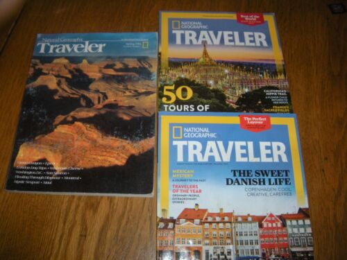 3 ISSUES OF NATIONAL GEOGRAPHIC TRAVELER MAGAZINES  Nov 2013 MAY 2014 SPRING 84