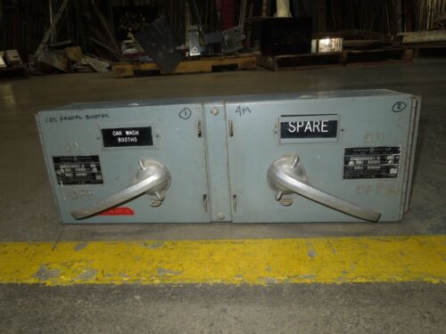 Ge Ddid2-322 60/60a Twin 3ph 250v Fused Panelboard Switch W/ Hardware Used