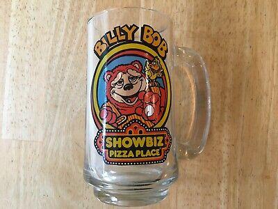 Vintage Billy Bob Showbiz Pizza Place Glass Mug plus 20 Chuck E. Cheese Vehicles