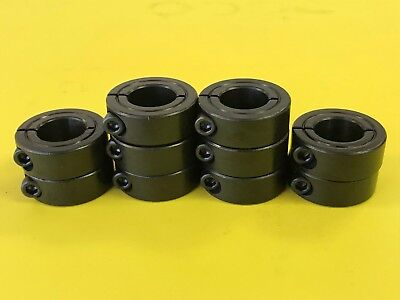 (10pcs) 16mm Single Split Shaft Collar - Black Oxide Finish - 1MSC-16 Metric