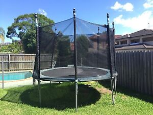 10 Feet Trampoline with Padding & Safety Net Strathfield Strathfield Area Preview