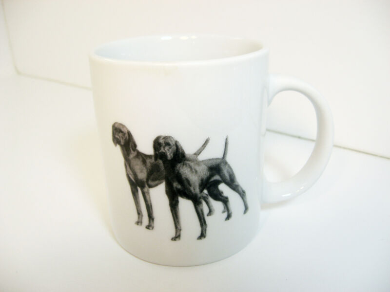 Vizsla Cup Mug Porcelain Black White Dog
