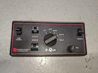 Federal Signal Eq2b Amp And Keypad Set