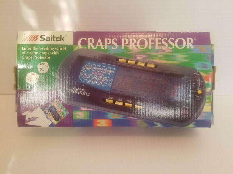 NEW OPEN BOX Saitek Craps Professor w/manual and strategy book