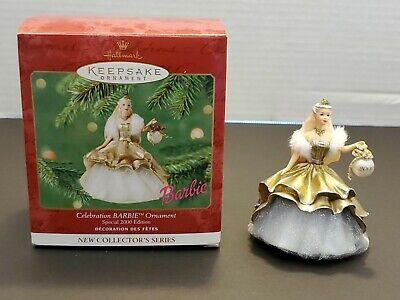 2000 Hallmark Christmas Ornament 1st Celebration Barbie Series Special Edition